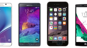 So kích cỡ Samsung Note 5, iPhone 6 Plus, LG G4
