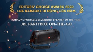Editors' Choice Awards 2020 JBL PartyBox On-The-Go - LOA KARAOKE DI ĐỘNG CỦA NĂM