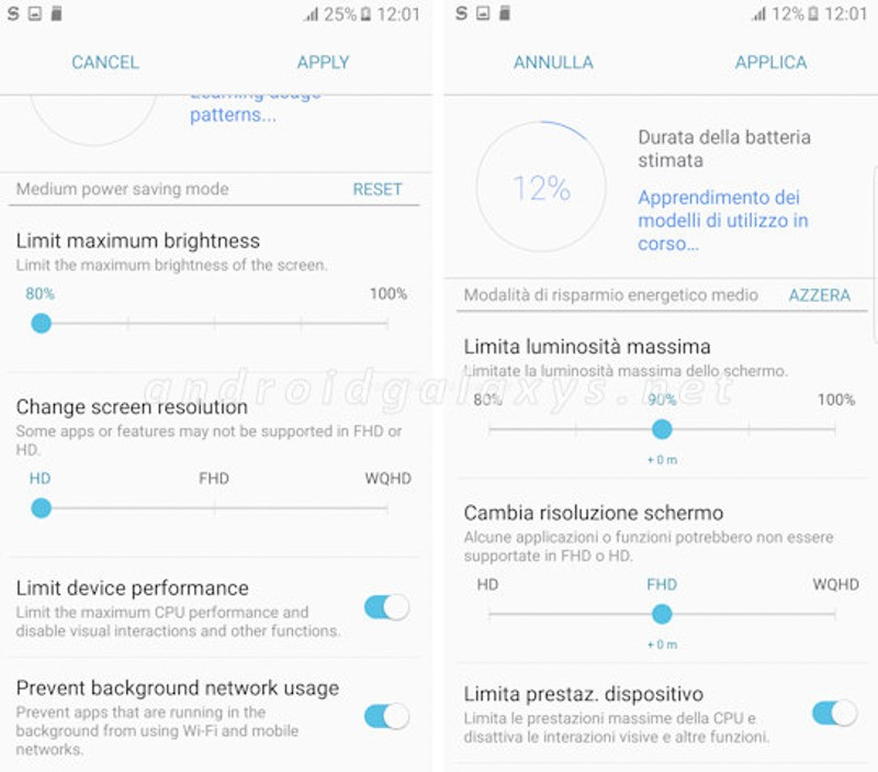 Giao diện Samsung Note 7